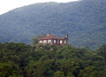 House on the hilltop old english style in paranapiacaba brazil Royalty Free Stock Images