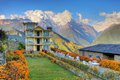 House,Himalayans,Nepal Royalty Free Stock Image