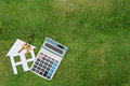 House with a home environment, green living, Mortgage Calculator Royalty Free Stock Photo