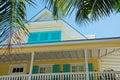 House, home, Key West architecture, porch, veranda, windows, palms, Keys Royalty Free Stock Photo