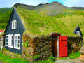 House in iceland small traditional Stock Image