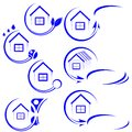 House icon blue vector illustration Royalty Free Stock Photo
