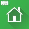House icon. Business concept home apartment pictogram. Vector il