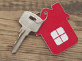 House icon a key in a lock with on it Royalty Free Stock Images