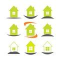 House icon set. Real estate logo template Royalty Free Stock Photo