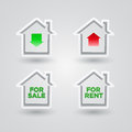 House icon set vector illustraton of real estate themed symbol collection Stock Photography