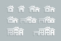 House icon set vector various Royalty Free Stock Images