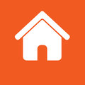 House icon, simple vector illustration Royalty Free Stock Photo
