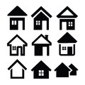House icons Royalty Free Stock Photography
