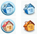 House - icons Royalty Free Stock Photo