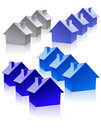 House_icons Royalty Free Stock Photography