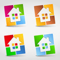 House icons abstract design elements for your logo Royalty Free Stock Photos