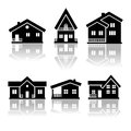 House icons this is file of eps format Stock Image
