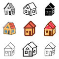House icons set Stock Photos
