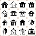 House icons set and signs Royalty Free Stock Photography