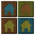 House icons. Royalty Free Stock Photo