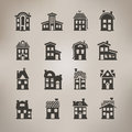 House icons vector format author s illustration in Royalty Free Stock Image