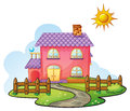 A house illustration of in beautiful nature Stock Photos