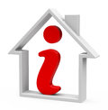 The house information d generated picture of a red icon inside a Royalty Free Stock Images