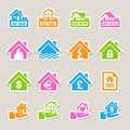 House insurance icons set illustration eps Stock Photo