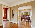House interior. View of dining area entrance hall Royalty Free Stock Photo