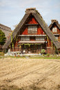 House in Japanese village Shirakawa-go Stock Photo