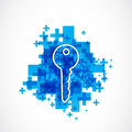 House key business solution abstract background Royalty Free Stock Photo