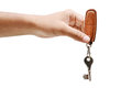 House key giving away for rent or buy real state Royalty Free Stock Photo