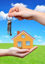 The house with key in hands Stock Images