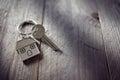 House key on keychain Royalty Free Stock Photo