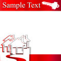 House and key vector template Stock Photos