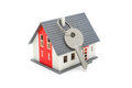 House with keys home buying ownership or security concept Stock Images