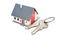 House with keys home buying ownership or security concept Royalty Free Stock Photo