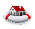 House in lifebuoy Royalty Free Stock Photo