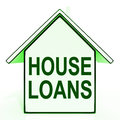 House loans home means mortgage on property meaning Royalty Free Stock Photo