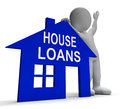 House loans home shows borrowing repayments showing and interest Stock Images