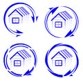 House logo with an arrow vector illustration Stock Photography