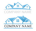 House logo blue logos and the roof Stock Photos