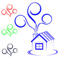 House logo the color vector illustration Royalty Free Stock Photo