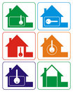 House logo (colours) Royalty Free Stock Photo