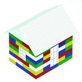 House made of colored children's blocks Stock Images