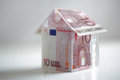 House made from european union currency Stock Images