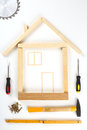 House made out of tools Royalty Free Stock Photo
