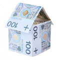 House made of polish money isolated on white Stock Image