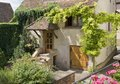 House in mittelbergheim idyllic overgrown detail a village of a region france named alsace Stock Photo