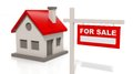 House model with sale sign Royalty Free Stock Photo