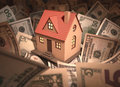 House money small surrounded by with deph of field Royalty Free Stock Image