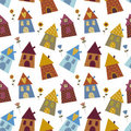 House multicolour pattern Stock Photo