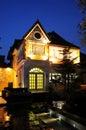 House at night Royalty Free Stock Photo