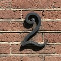 House number two - 2 - Royalty Free Stock Photo